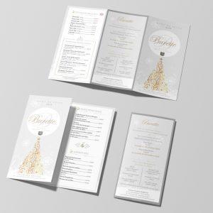 Burette menu noel triptyque