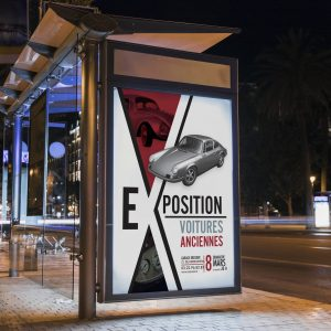 affiche expo voiture